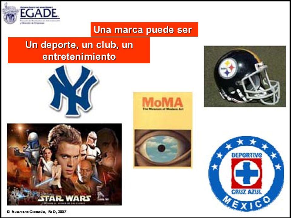 Una marca puede ser Un deporte, un club, un entretenimiento