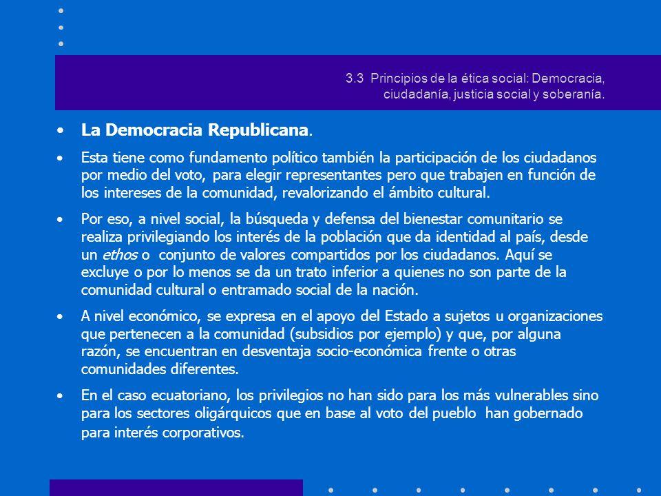 3.Estilos contemporánea de democracia: La Democracia liberal.