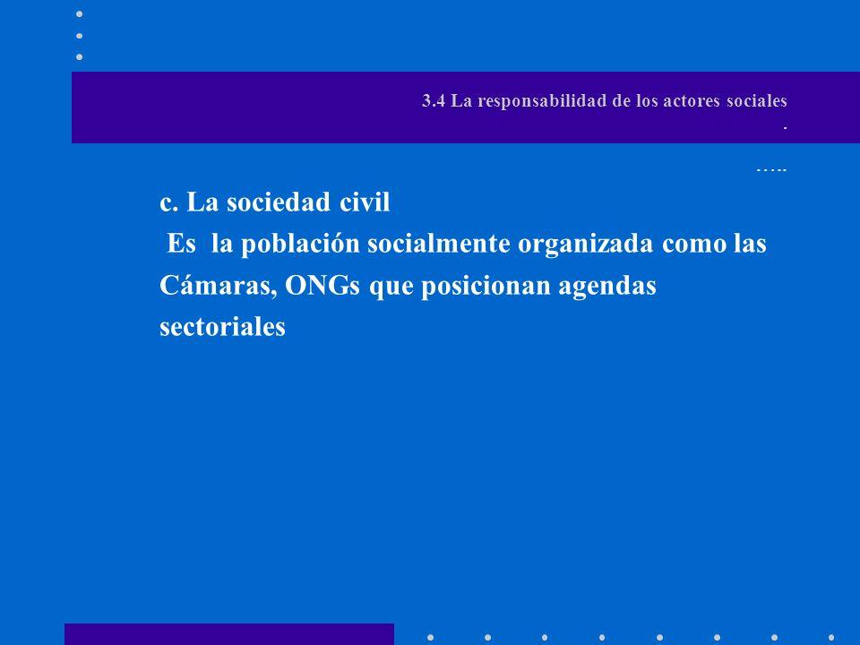 3.4 La responsabilidad de los actores sociales.b.