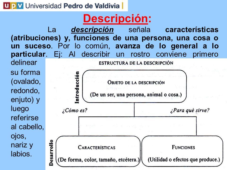 Argumentación: La argumentación constituye una cadena de razonamientos que se emplea para demostrar la validez de una propuesta.