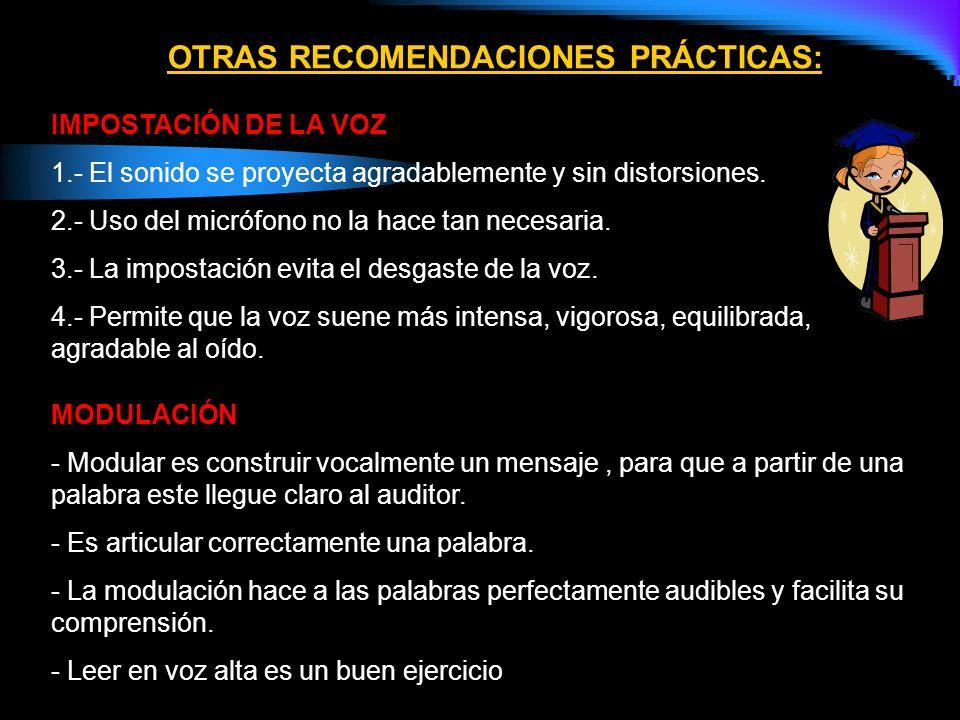 ALGUNOS TIPS PARA COMENZAR UNA EXPOSICIÓN ORAL (INTRODUCCIÓN) 1.- Duración breve. 10 a 15 % del total de la intervención. 2.- Agradezca al auditorio l