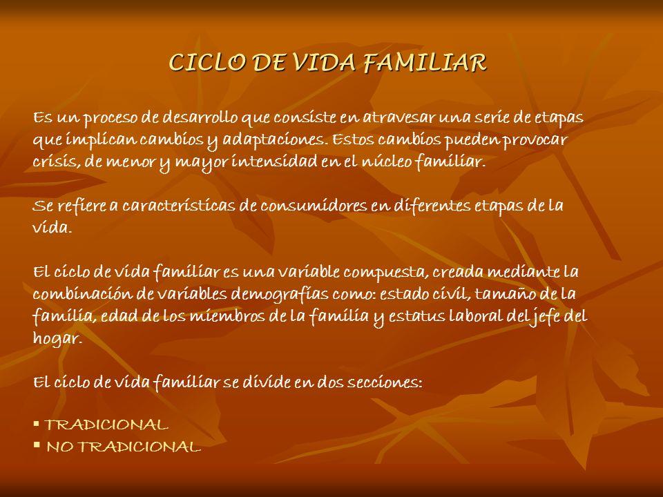 CICLO DE VIDA FAMILIAR Es un proceso de desarrollo que consiste en atravesar una serie de etapas que implican cambios y adaptaciones. Estos cambios pu