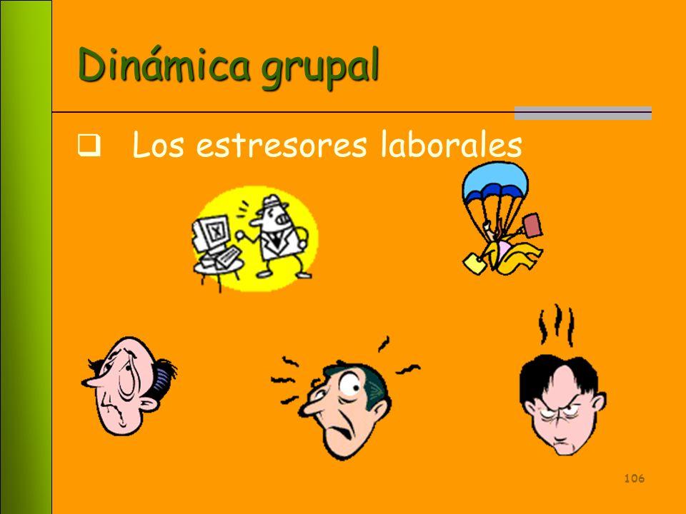 105 Factores Interpersonales Desarrollo Profesional Condiciones Laborales Papeles o Roles Relación Hogar - Trabajo Causas fuentes del Estrés Laboral