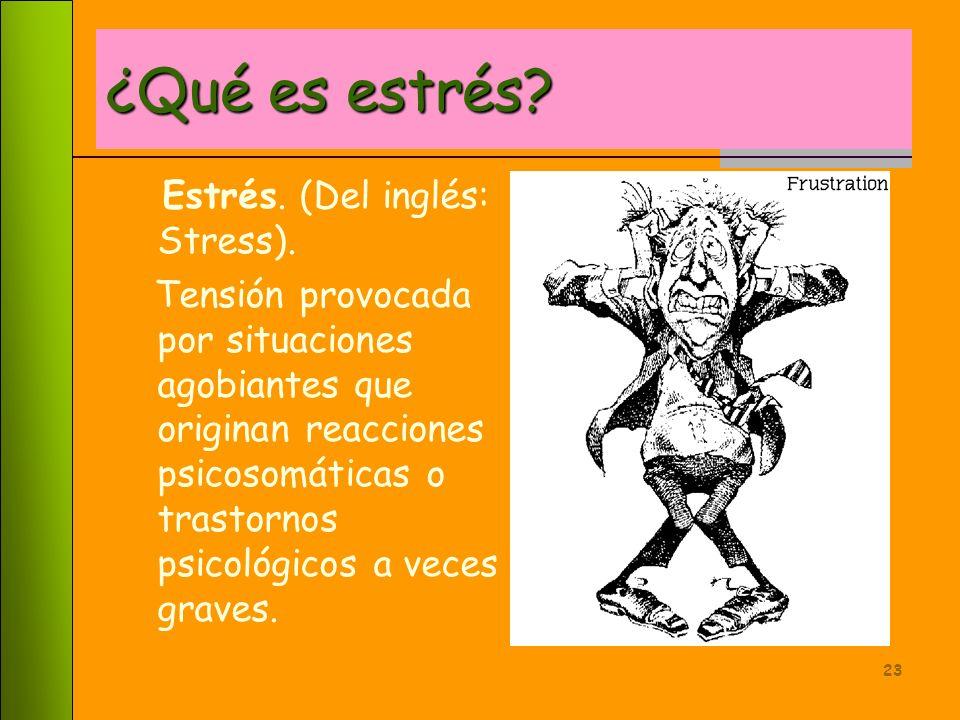 22 Análisis del estrés
