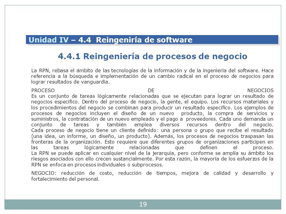 19 La RPN, rebasa el ámbito de las tecnologías de la información y de la ingeniería del software. Hace referencia a la búsqueda e implementación de un