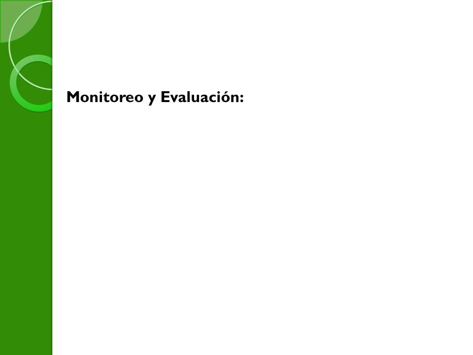 Monitoreo y Evaluación: