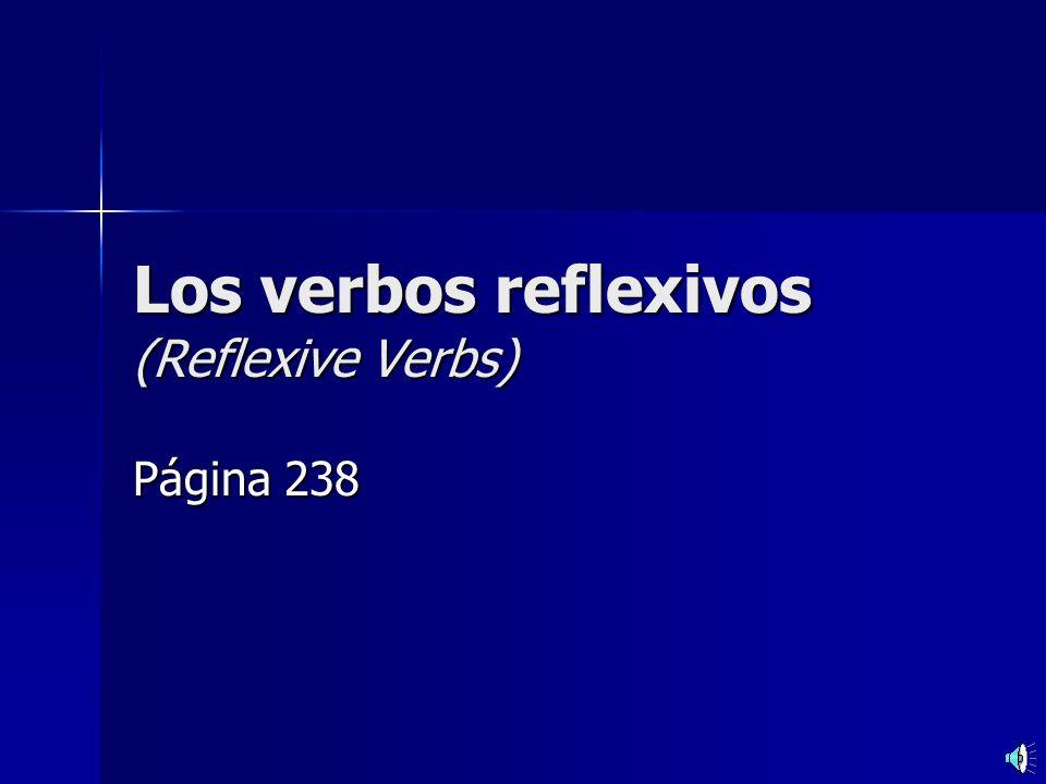 Los verbos reflexivos (Reflexive Verbs) Página 238