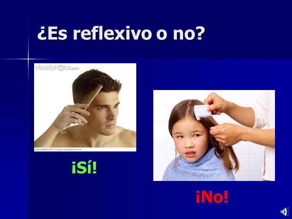 Practicamos Practicamos Lavarse = to wash – –(yo) me lavo – –(tú) te lavas – –(él / ella / usted) se lava – –(nosotros) nos lavamos – –(ellos / ellas / ustedes) se lavan Remember – these pronouns are only used for infinitives that end in se