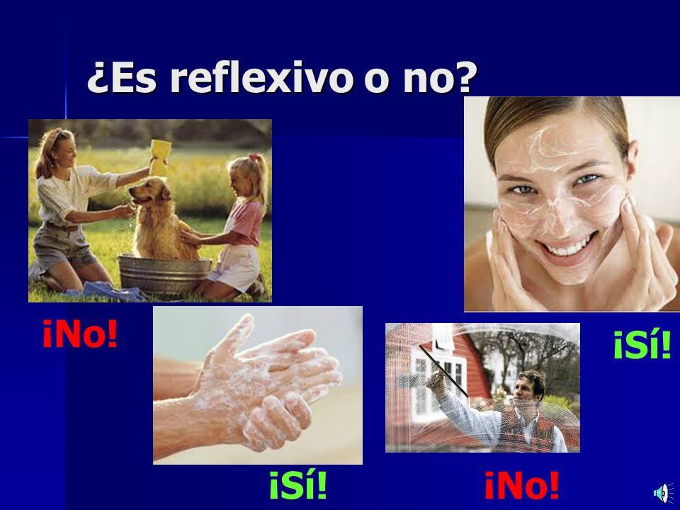Practicamos Practicamos Ponerse = to put on – –(yo) me pongo – –(tú) te pones – –(él / ella / usted) se pone – –(nosotros) nos ponemos – –(ellos / ellas / ustedes) se ponen Remember – these pronouns are only used for infinitives that end in se