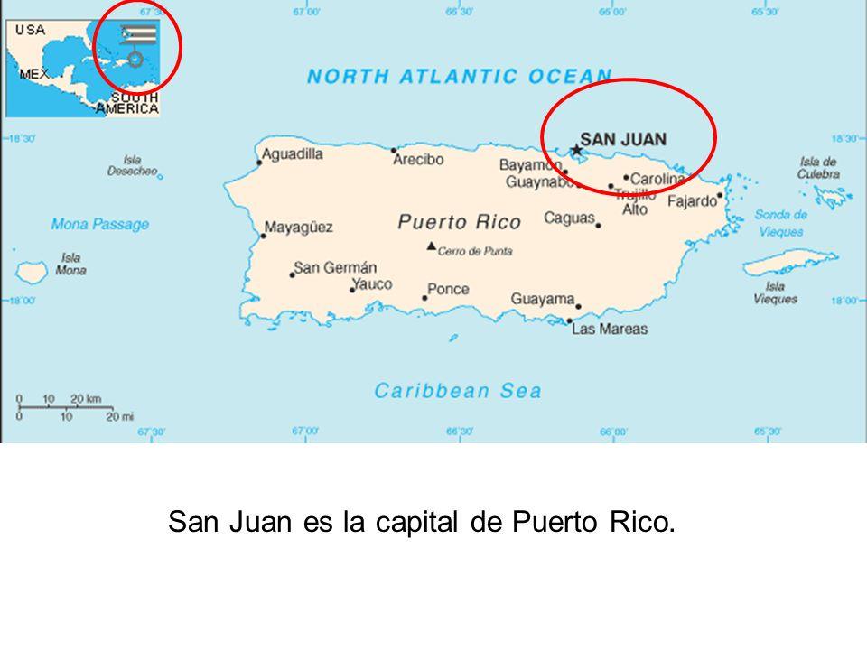 San Juan es la capital de Puerto Rico.