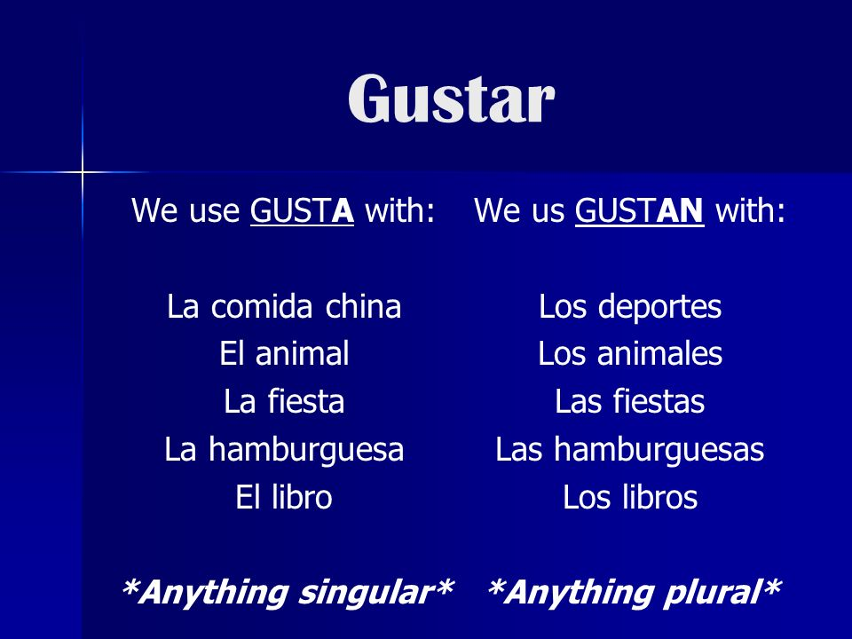 ¿A quién le gusta….Use the following to say who likes something.