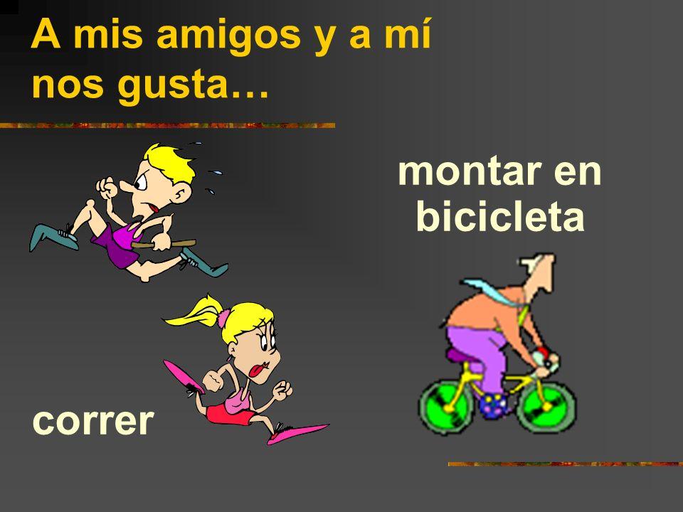correr montar en bicicleta