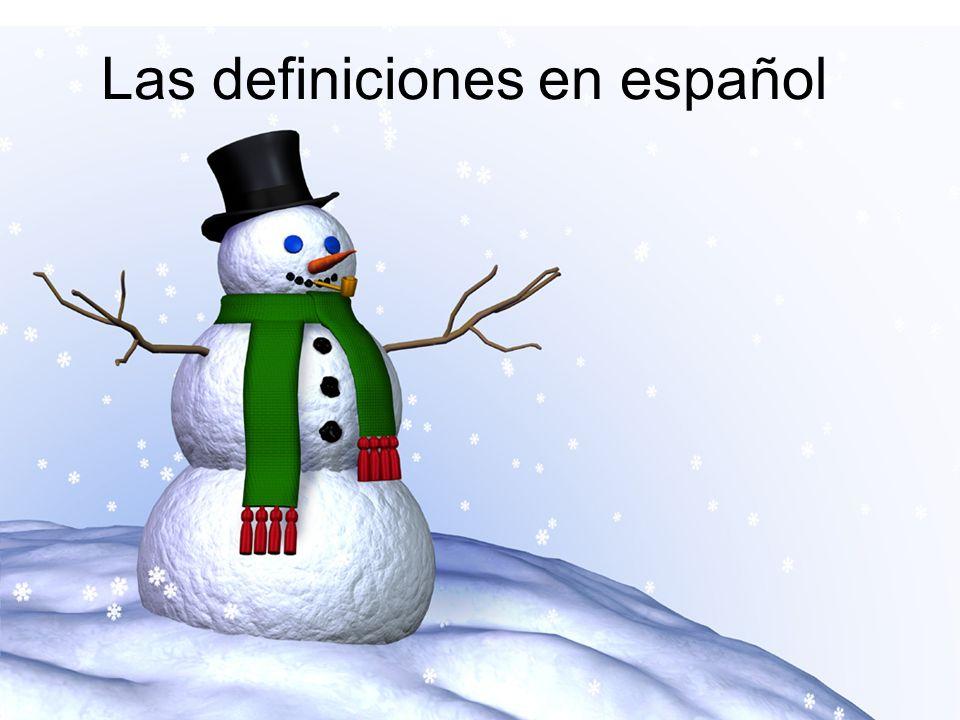 Las definiciones en español