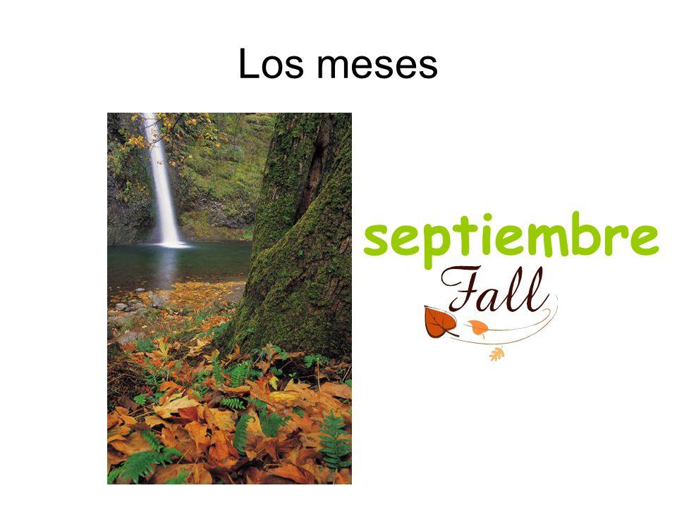 Los meses septiembre