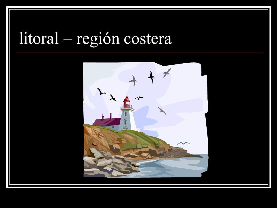litoral – región costera