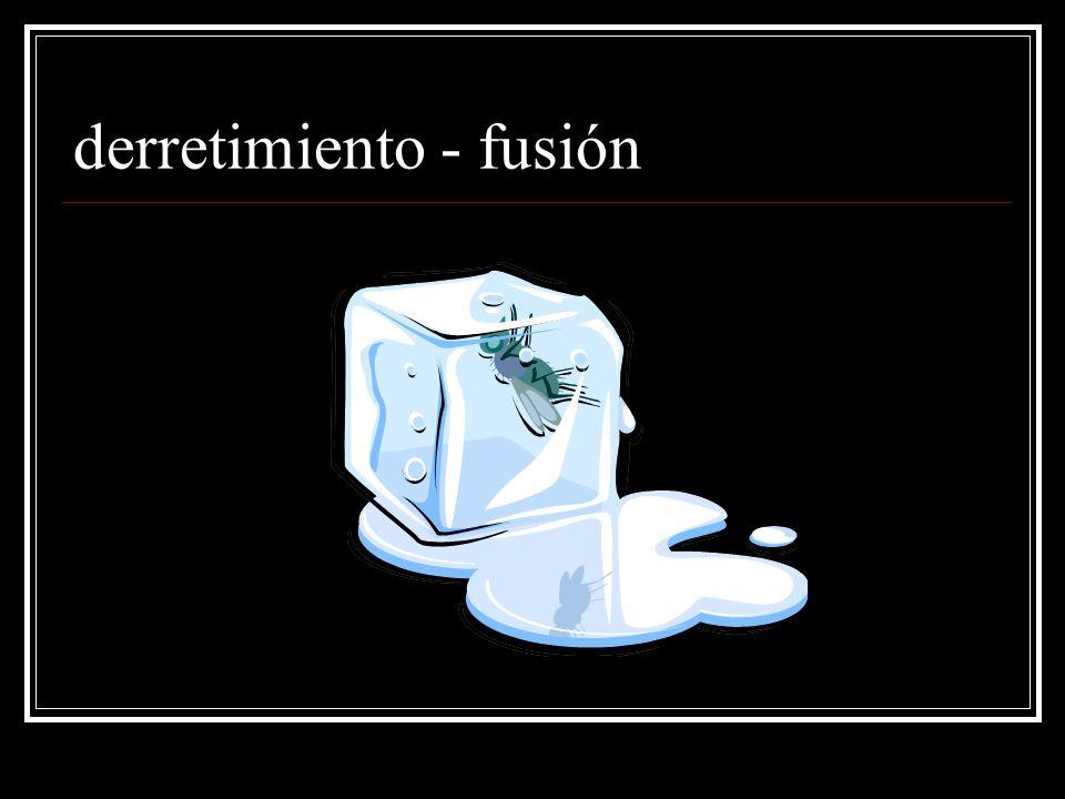 derretimiento - fusión