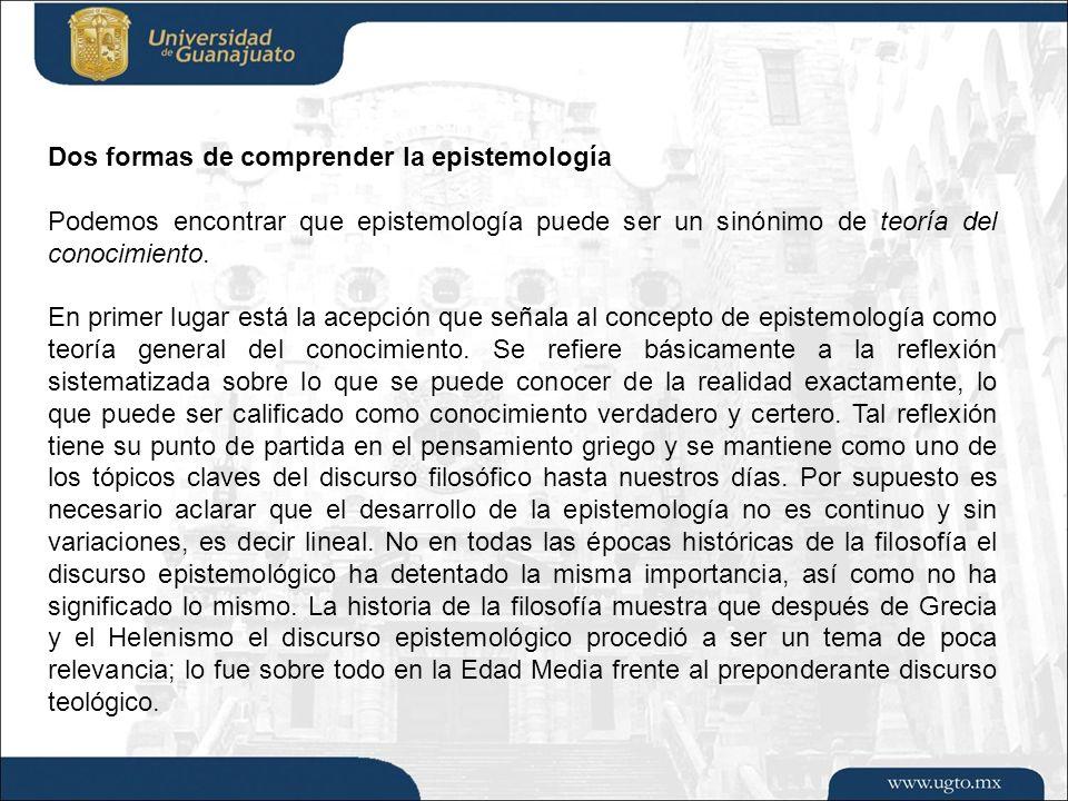 División de Ciencias Sociales y Humanidades/ CAMPUS LEÓN El momento en el que la «fragmentación epistemológica» parece comenzar a desarrollarse tiene cabida en la Modernidad, comenzando este período con la publicación del Discurso del Método en 1637.