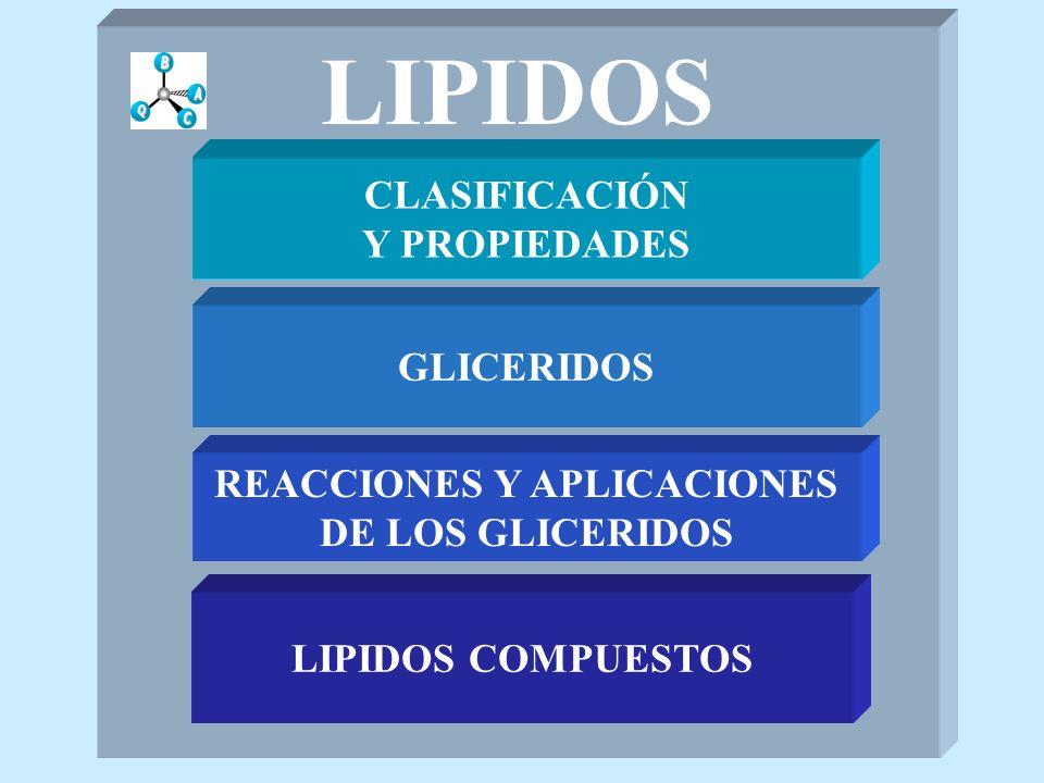 ESFINGOLIPIDOS LIPIDOS COMPUESTOS PSICOSINA CH 3 -(CH 2 ) 12 -CH=CH-CH-CH- CH 2 NH-X O- YHO X= -H Se forma en la hidrólisis alcalina de cerebrósidos Y= -glucósido ó - galactósido