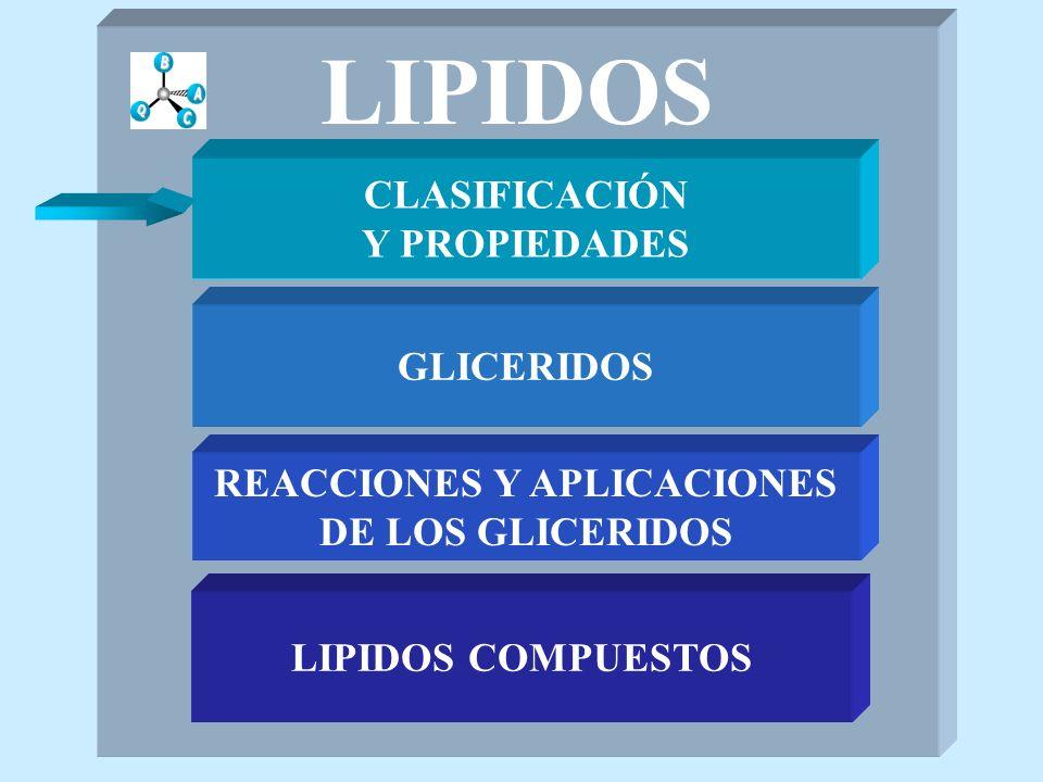 ESFINGOLIPIDOS LIPIDOS COMPUESTOS SULFATIDOS CH 3 -(CH 2 ) 12 -CH=CH-CH-CH- CH 2 NH-X O- YHO X= -CO-R Se encuentran en tejidos del cerebro Y= -galactósido con -OH de C-3 como -O-SO 3 H