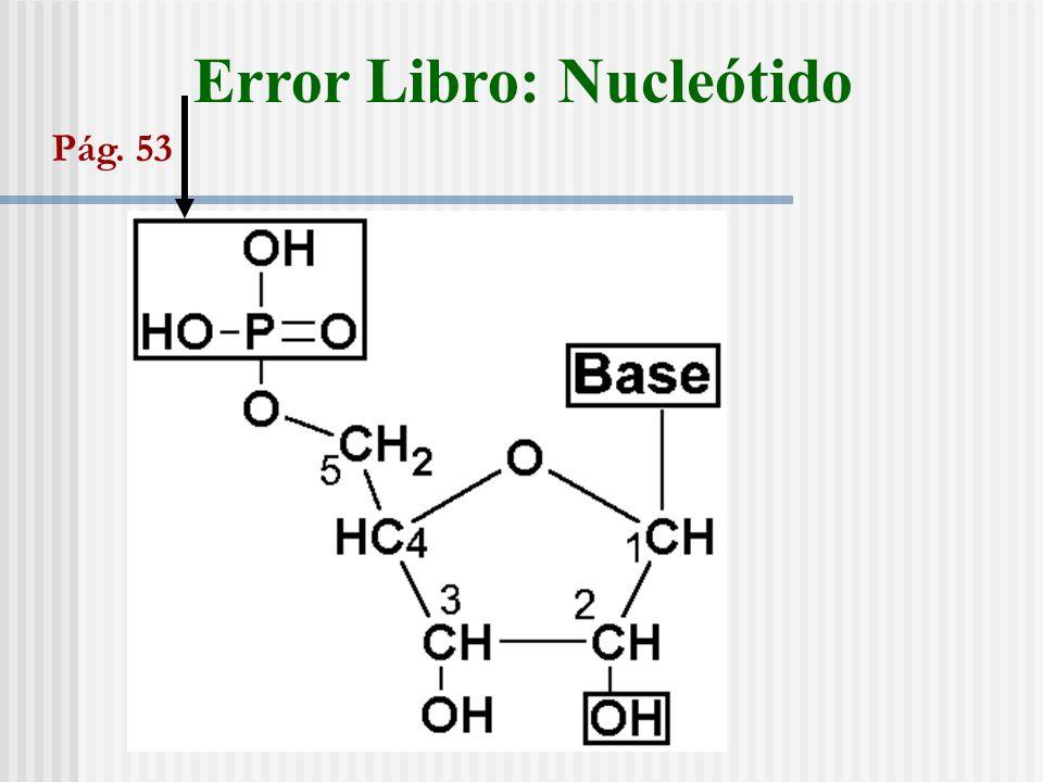 Error Libro: Nucleótido Pág. 53