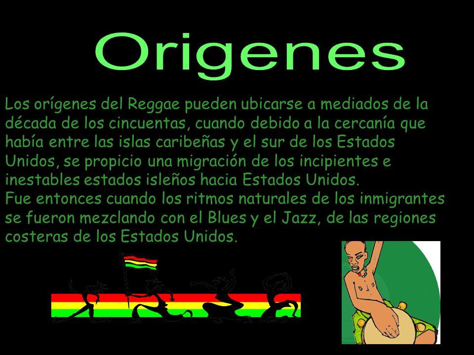 Los orígenes del Reggae pueden ubicarse a mediados de la década de los cincuentas, cuando debido a la cercanía que había entre las islas caribeñas y el sur de los Estados Unidos, se propicio una migración de los incipientes e inestables estados isleños hacia Estados Unidos.