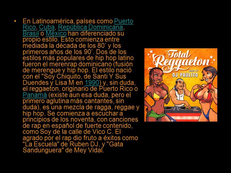 En Latinoamérica, países como Puerto Rico, Cuba, República Dominicana, Brasil o México han diferenciado su propio estilo. Esto comienza entre mediada