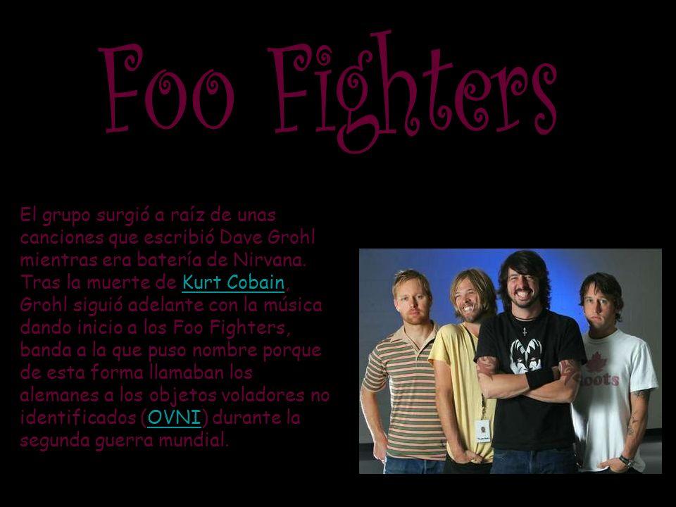 El grupo surgió a raíz de unas canciones que escribió Dave Grohl mientras era batería de Nirvana.