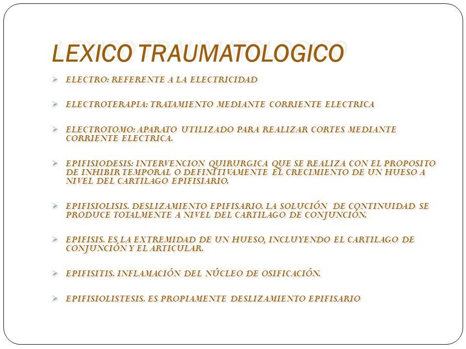 LEXICO TRAUMATOLOGICO ELECTROMIOGRAFIA.