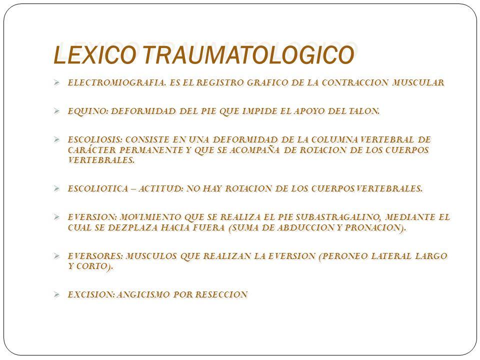 LEXICO TRAUMATOLOGICO ORTOPEDIA.