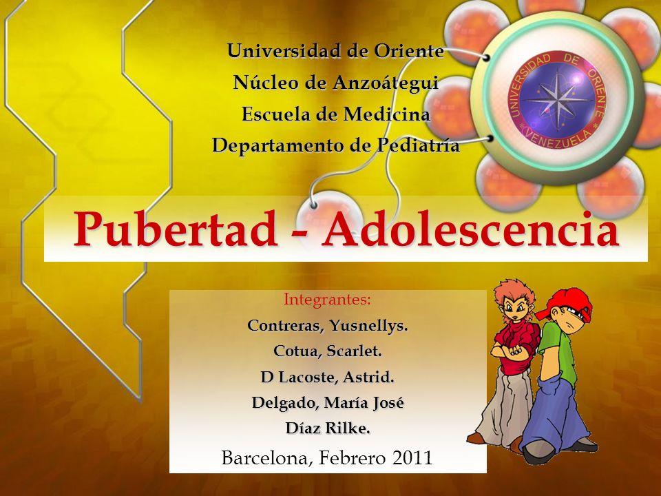 Cuando los signos de desarrollo puberal no aparecen a la edad de 13 años en las niñas y de 14 en los niños.
