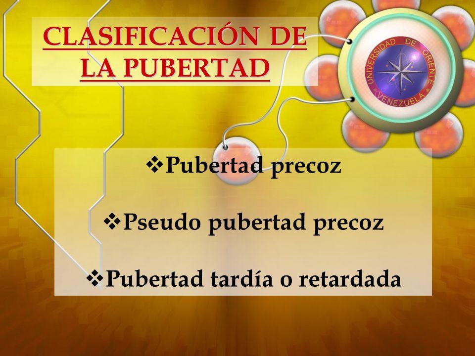Acción de las hormonas en el desarrollo puberal EN EL VARON: FSH: Desarrollo del epitelio germinativo Espermatogenesis Aumento de los túbulos seminíferos LH: Estimula las células de Leydig.