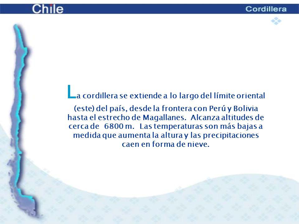 1.- Cordillera en el extremo norte: destacan los volcanes gemelos llamados Payachatas y la ciénaga de Parinacota a sus pies.