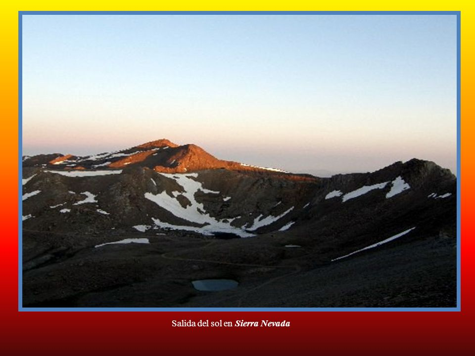 Salida del sol en Sierra Nevada