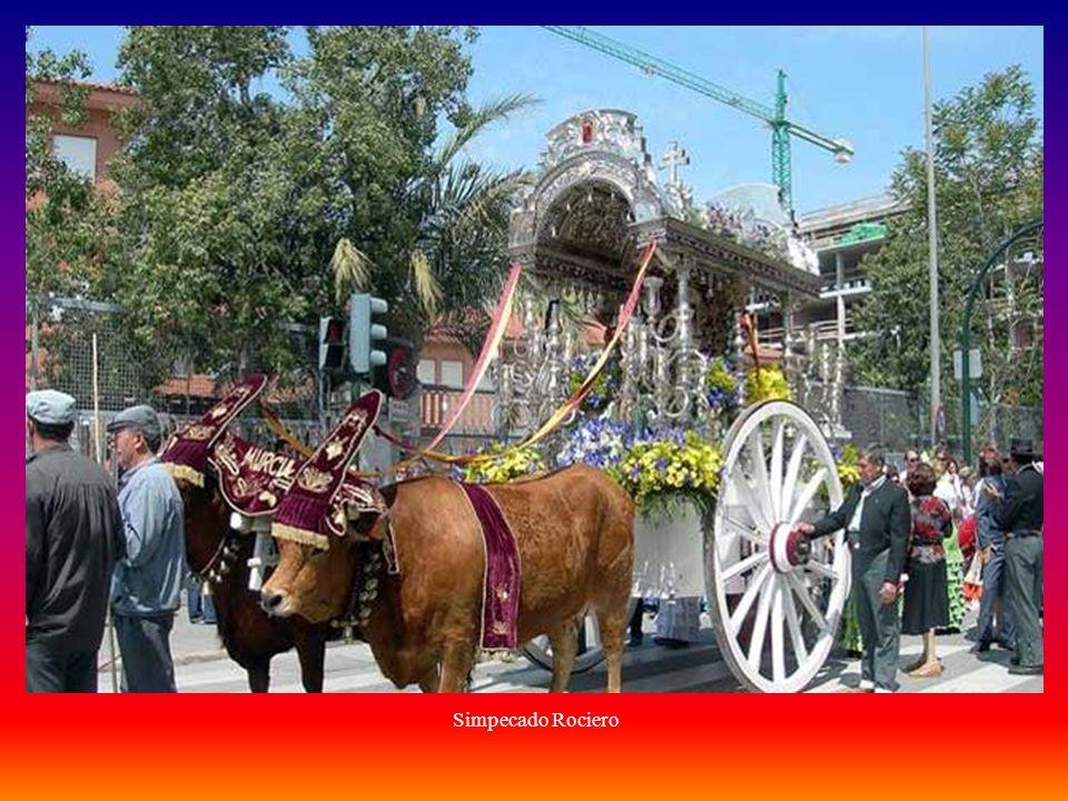 La Romería del Rocío se celebra el fin de semana del Domingo de Pentecostés.