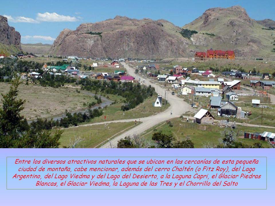 El Chalten, es una localidad del oeste de la provincia de Santa Cruz, Argentina. Está ubicada en el sur de la cordillera de los Andes, en el extremo s