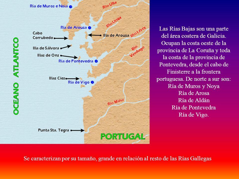 Las Rías Bajas son una parte del área costera de Galicia.