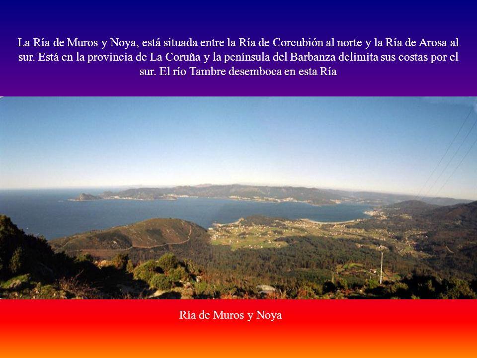 La Ría de Muros y Noya, está situada entre la Ría de Corcubión al norte y la Ría de Arosa al sur.