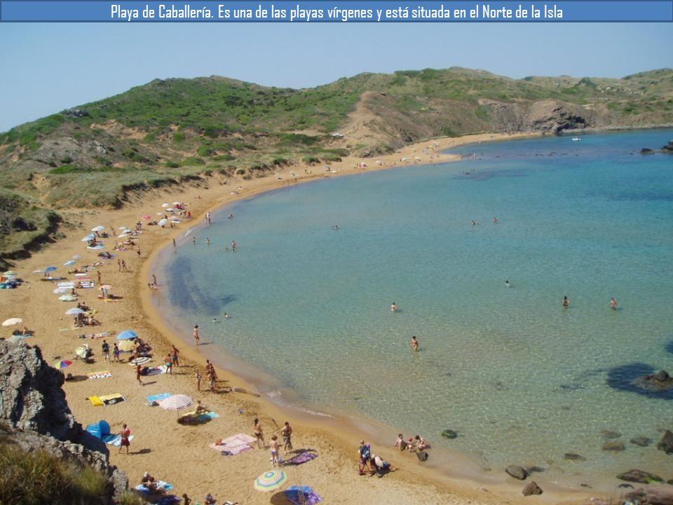 Playa de Caballería. Es una de las playas vírgenes y está situada en el Norte de la Isla
