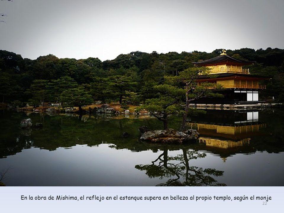 El famoso Pabellón Dorado (Kioto), que inspiró la obra homónima de Mishima. 21