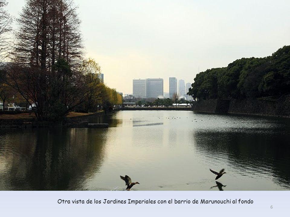Otra vista de los Jardines Imperiales con el barrio de Marunouchi al fondo 6