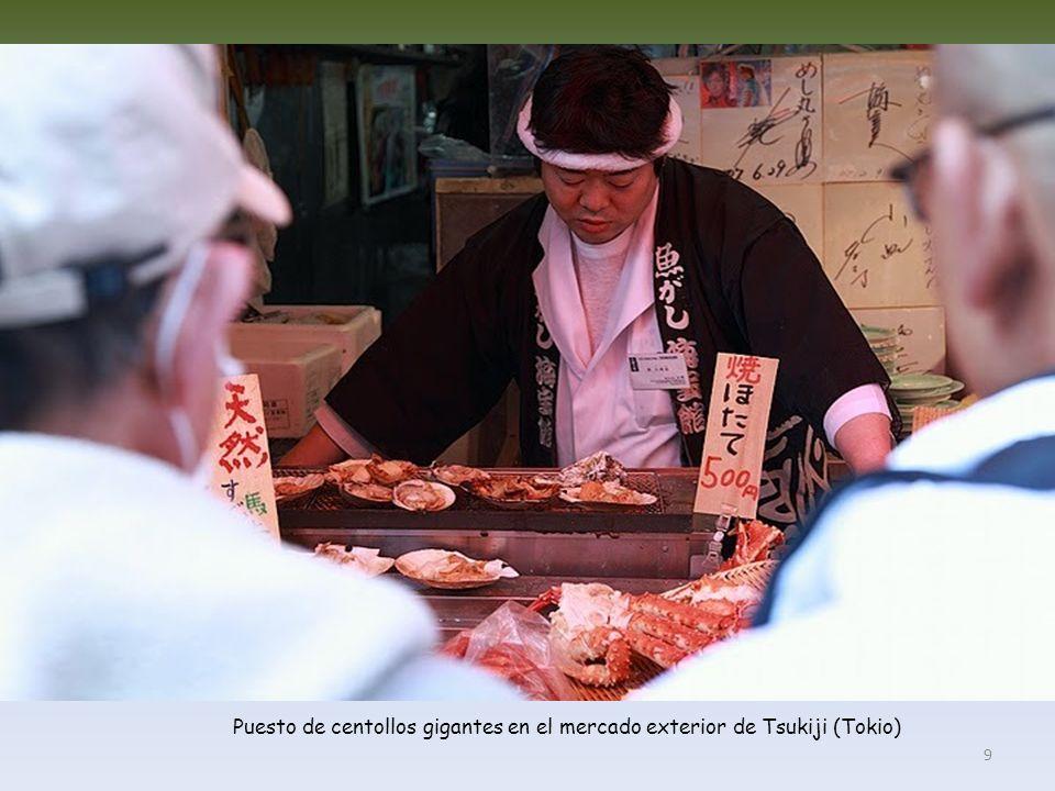 Mercado exterior de Tsukiji (Tokio) 8