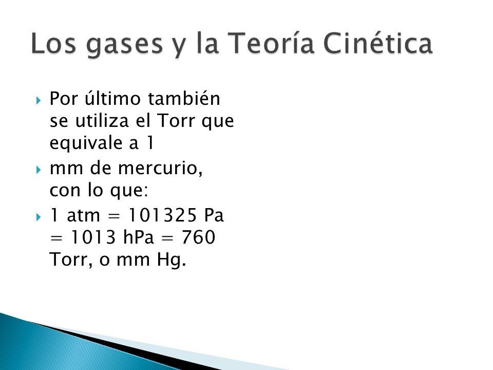 Por último también se utiliza el Torr que equivale a 1 mm de mercurio, con lo que: 1 atm = 101325 Pa = 1013 hPa = 760 Torr, o mm Hg.