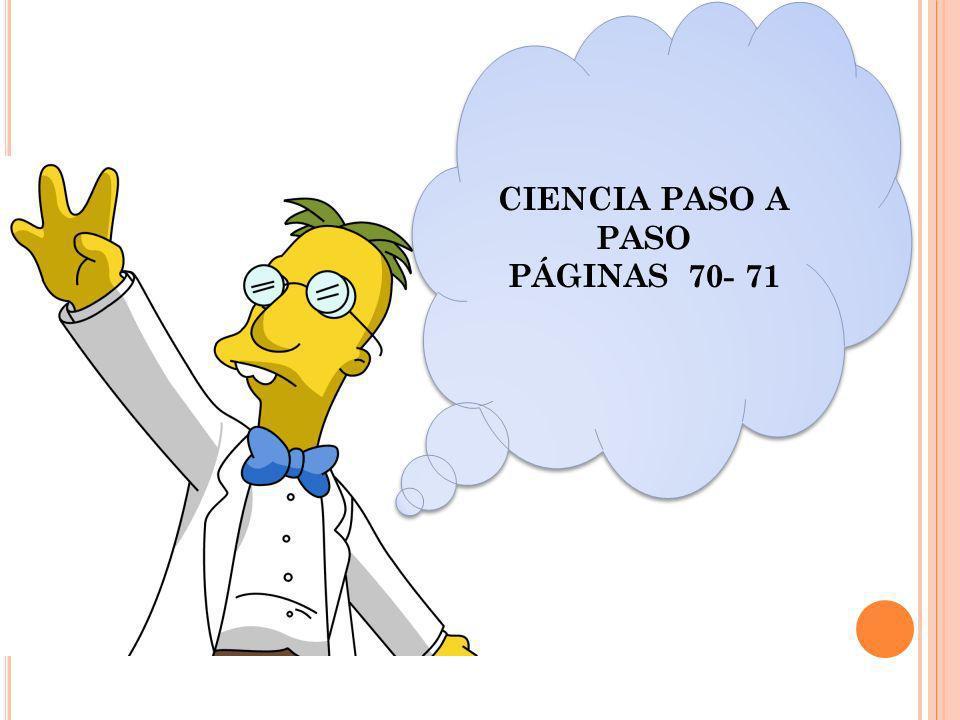 CIENCIA PASO A PASO PÁGINAS 70- 71 CIENCIA PASO A PASO PÁGINAS 70- 71