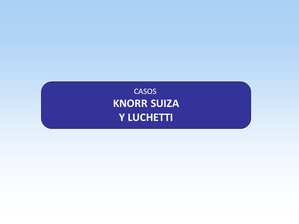 CASOS KNORR SUIZA Y LUCHETTI