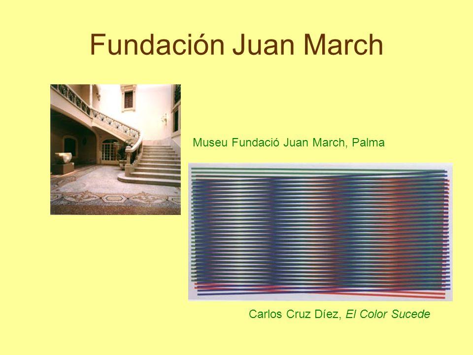 Fundación Juan March Museu Fundació Juan March, Palma Carlos Cruz Díez, El Color Sucede