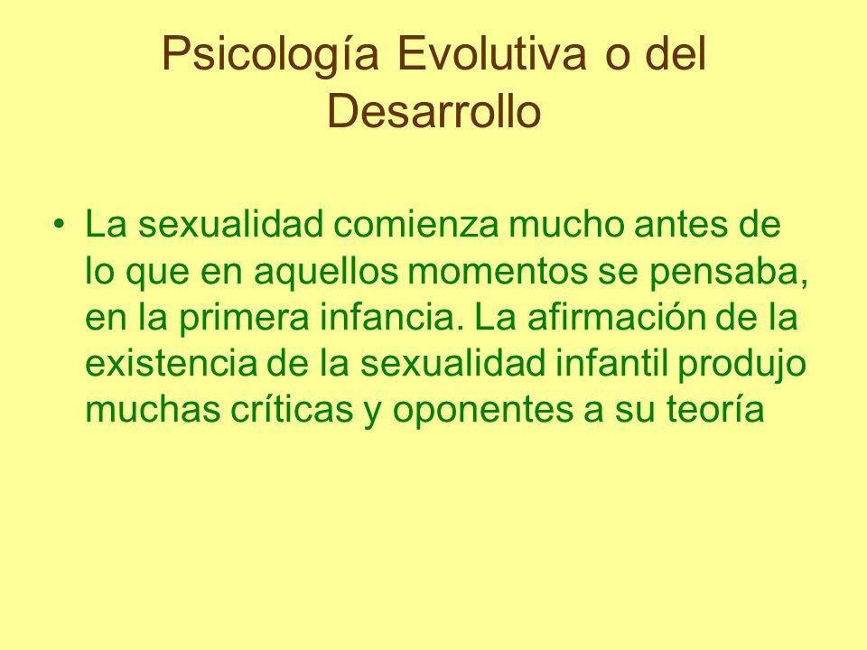La sexualidad comienza mucho antes de lo que en aquellos momentos se pensaba, en la primera infancia. La afirmación de la existencia de la sexualidad
