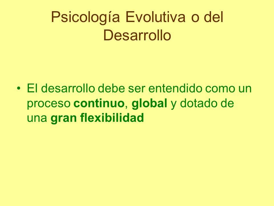 Psicología Evolutiva o del Desarrollo Objetivos fundamentales de esta disciplina: describir los cambios psicológicos y tratar de explicar por qué ocurren dar razón de las diferencias existentes entre unas personas y otras y sentar las bases para distintos tipos de intervención