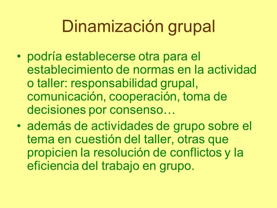 Dinamización grupal CREACIÓN: - Empatía: de organización y de ejecución.