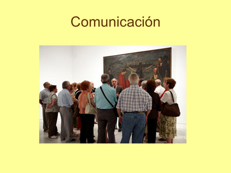 Comunicación Durante el desarrollo de la visita, dirígete al grupo con voz alta y clara.