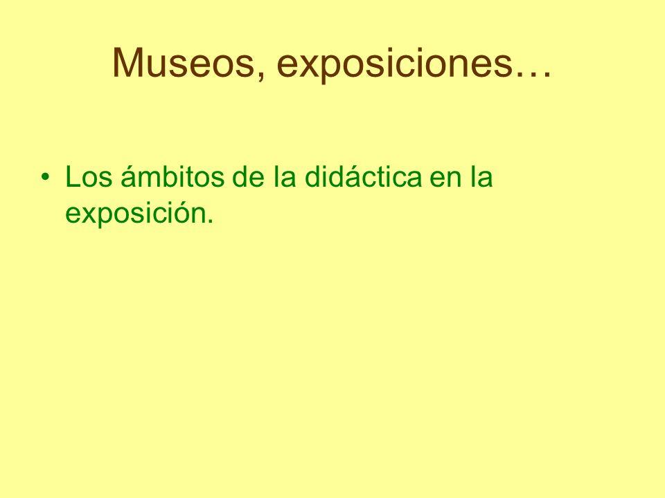Los ámbitos de la didáctica en la exposición.